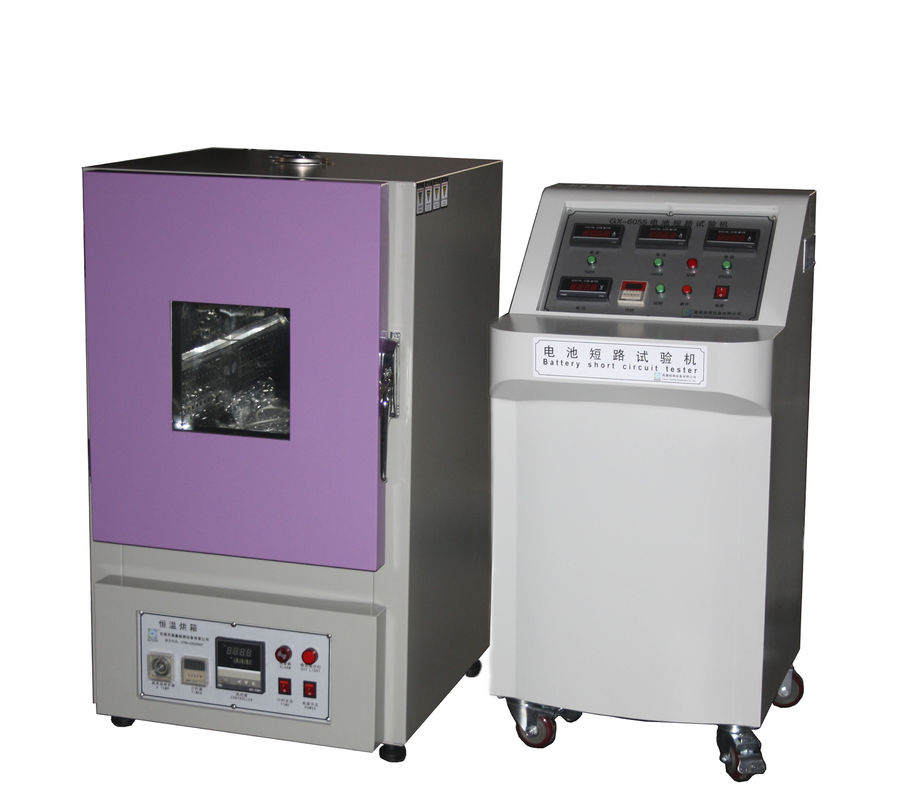 UL  2054 Remote Control Tested 60 ± 2 ℃ Temperature Battery Short Circuit Testing Chamber