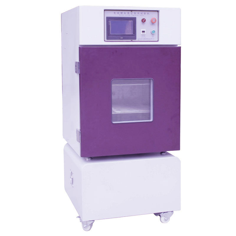 PLC Integrated Touch Screen Display Over Pressure Protection Low Pressure Altitude Battery Lab Testing Machine