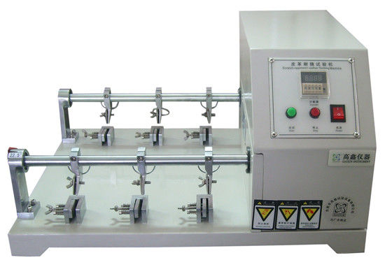 Six Station Leather Preprocessing Flexing Testing Machine Crumpling Resistance Tester